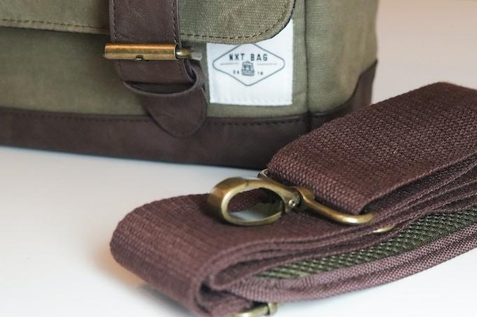 nXtBag2 Heavy duty 12oz waxed canvas Heavy duty stitching, leather base, leather closing straps,