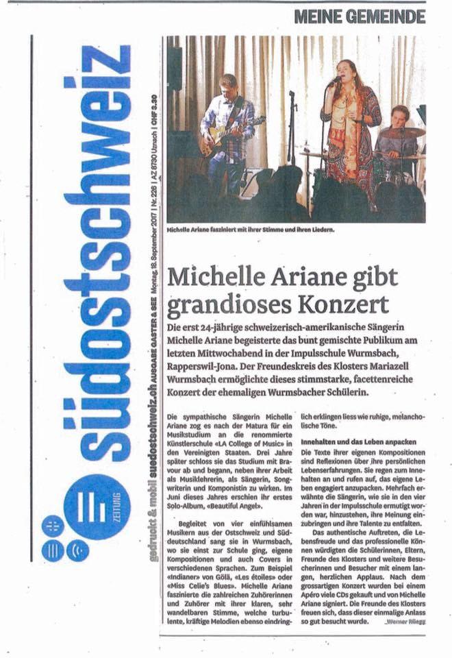 An Article from the Südostschweiz about a concert from 2017