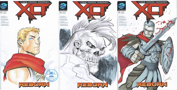 Chamba - Ken Lashley - Lauren Marshall Sketch Covers - $175