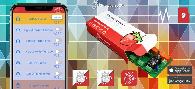 Add Strawberry4Pi to your electrical circuits and control them from anywhere.