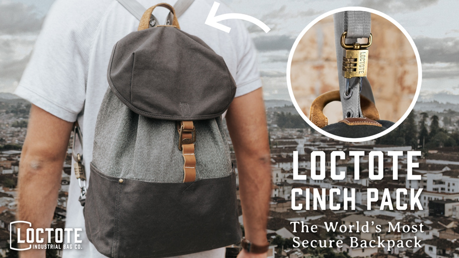 fa7778194c7fa The World s Most Secure Backpack - LOCTOTE Cinch Pack by LOCTOTE ...
