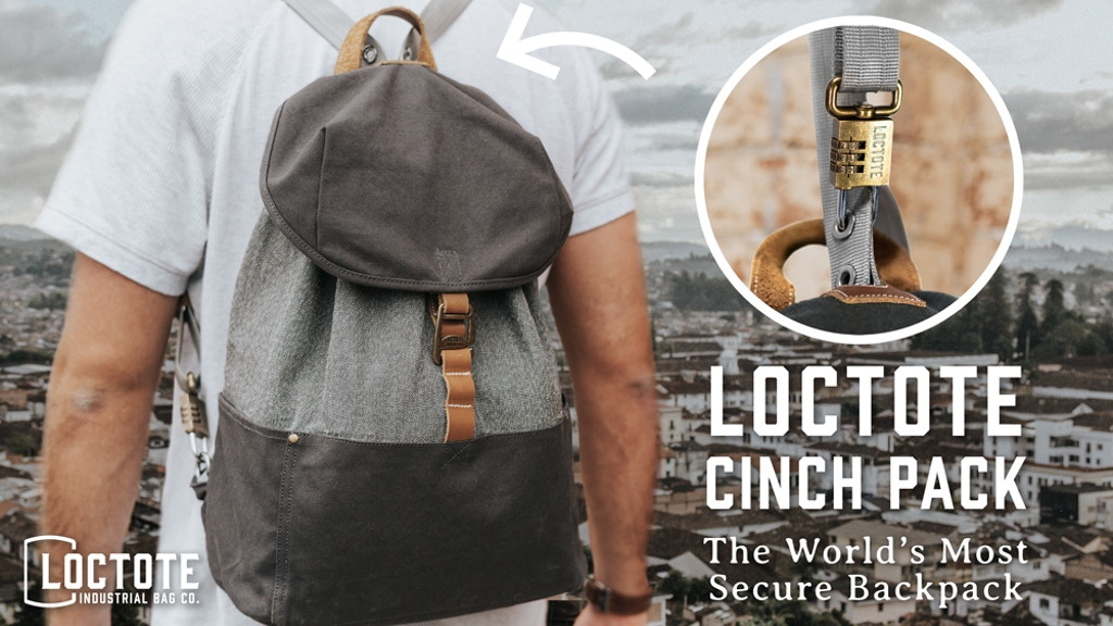 The World's Most Secure Backpack - LOCTOTE Cinch Pack project video thumbnail