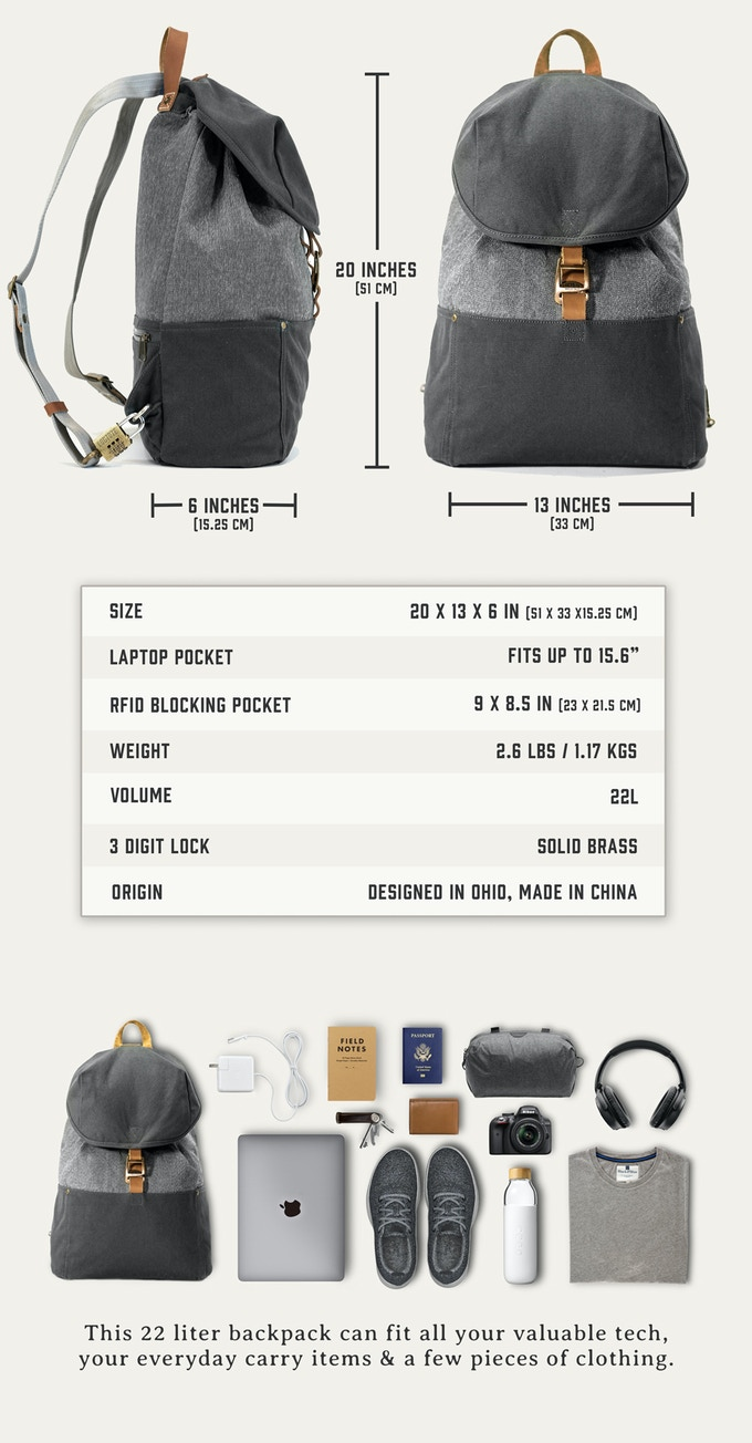 The World's Most Secure Backpack - LOCTOTE Cinch Pack by LOCTOTE