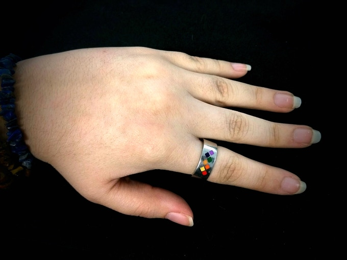 Spectris Ring Prototype (Size 7, Non-Flag-Specific Color Test, Modeled)