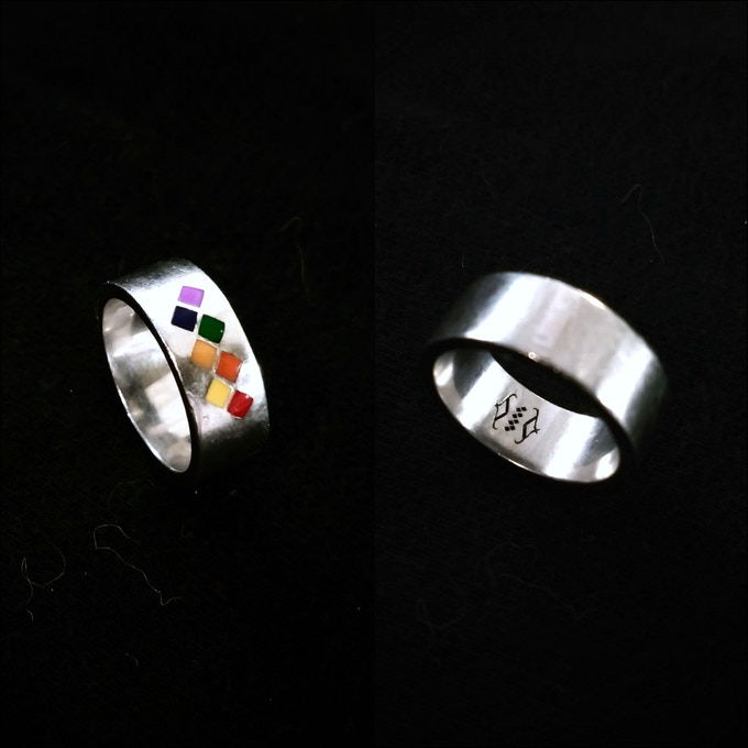 Spectris Ring Prototype (Size 7, Non-Flag-Specific Color Test)