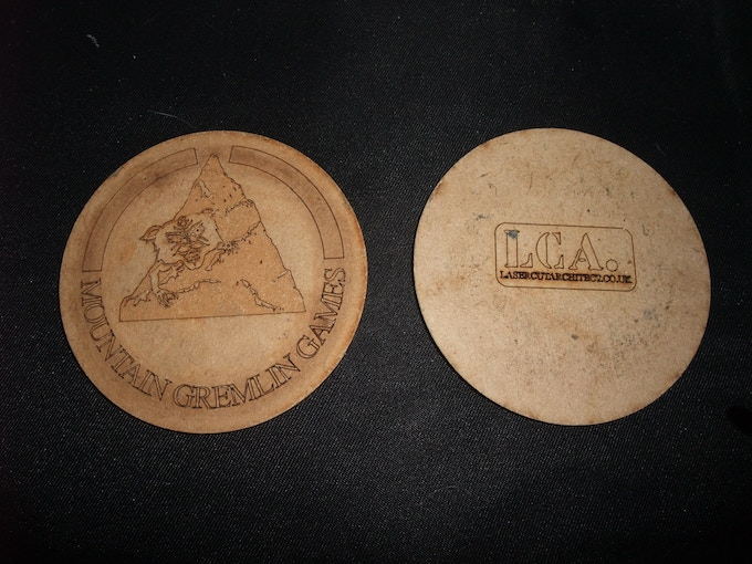 prototype coasters - protect your gaming tables in style.