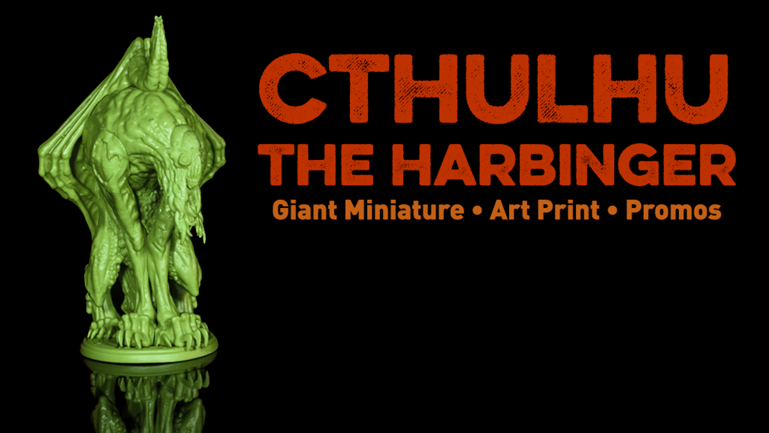 An impressive figure of Cthulhu, suitable for veneration.