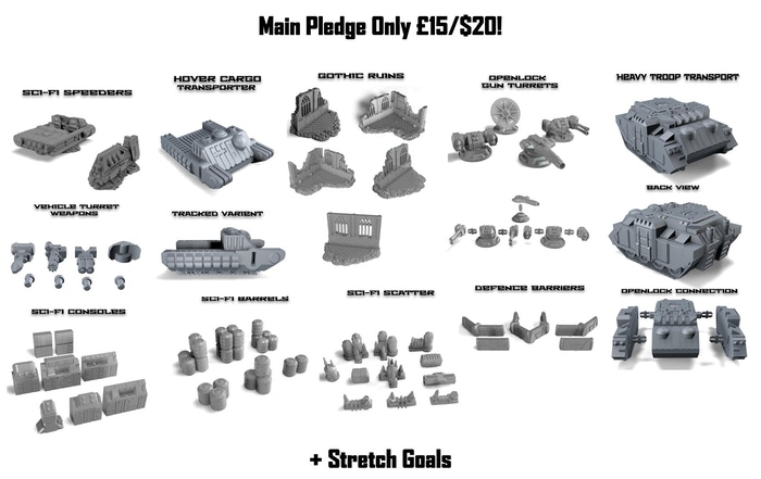 Project Updates for 28mm Modular Sci-fi Buildings & Scenery