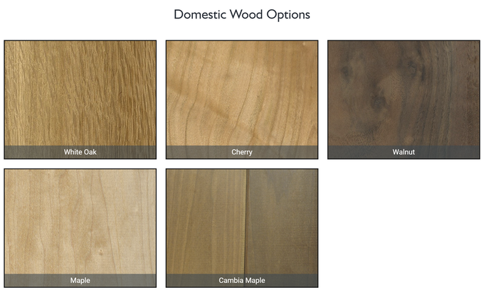 Domestic wood options are included in the base reward price.