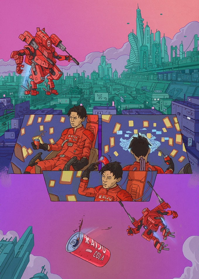 Page 3 of the issue: in which King Kaiju scans the city for Crash