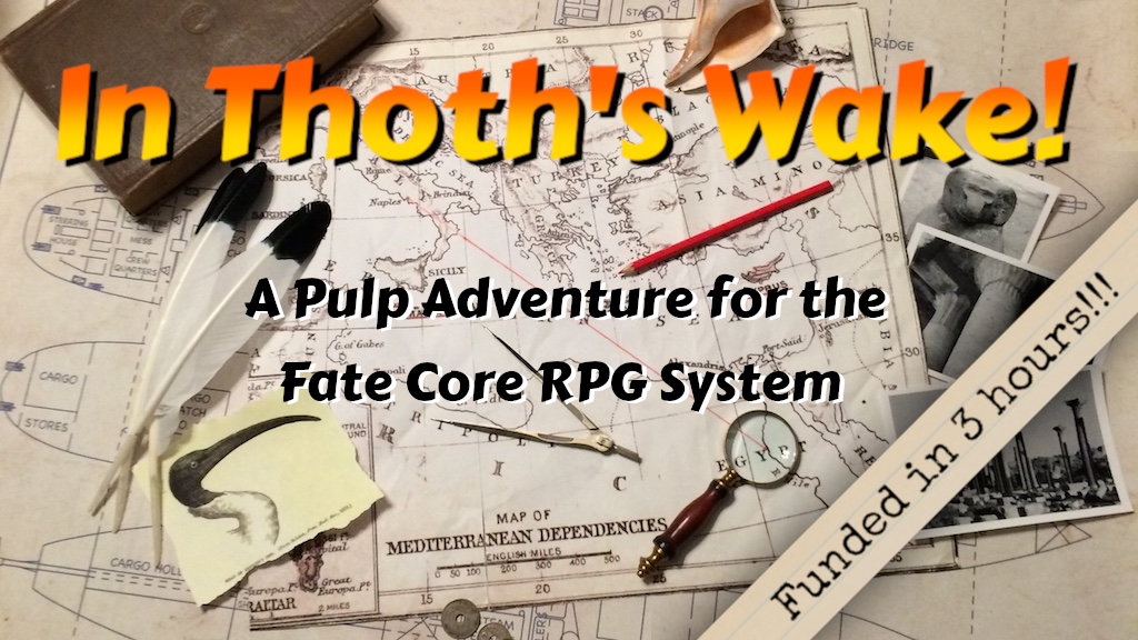 A pulp adventure for the Fate Core roleplaying game system.