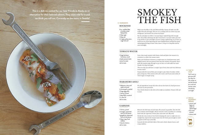A mock-up recipe design