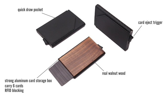 Urban X wood wallet