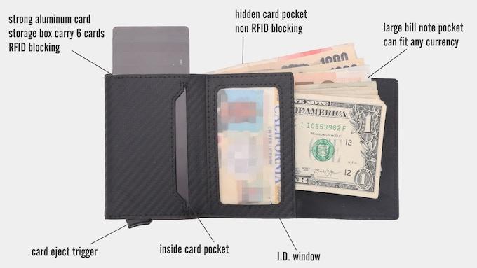 Urban X Max wallet inside