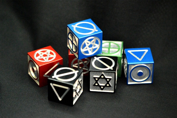 Produced and tested samples of Symbols Dice