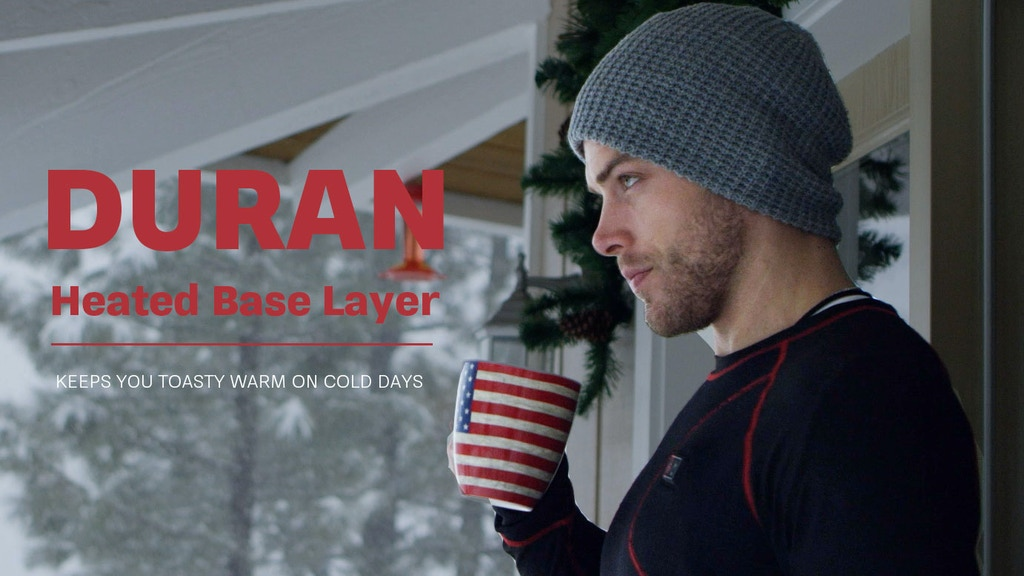 DURAN: The Most Slim Cozy Heated Base Layer