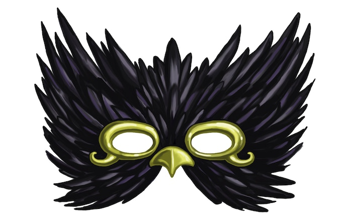 THE RAVEN MASK - Just 1 of 13 magic items that the family uses to make partial payment for services rendered.
