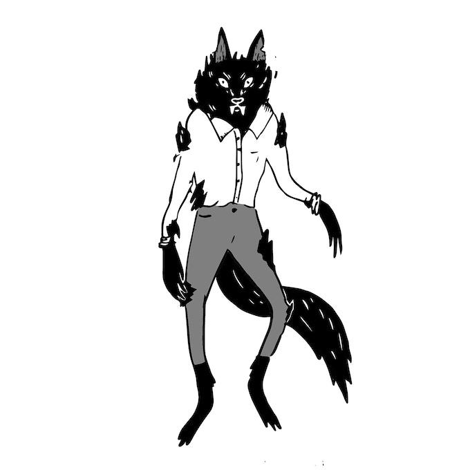 "8.5x11"" Art print - Werewolf"