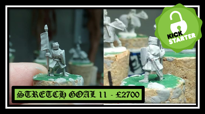 Unlocked stretch goal 11 - Knight on foot with banner