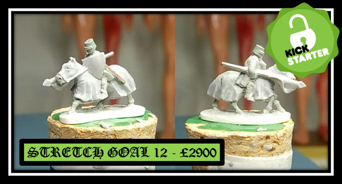 UNLOCKED Stretch goal 12 - Armored Caparison Mounted Knight charging