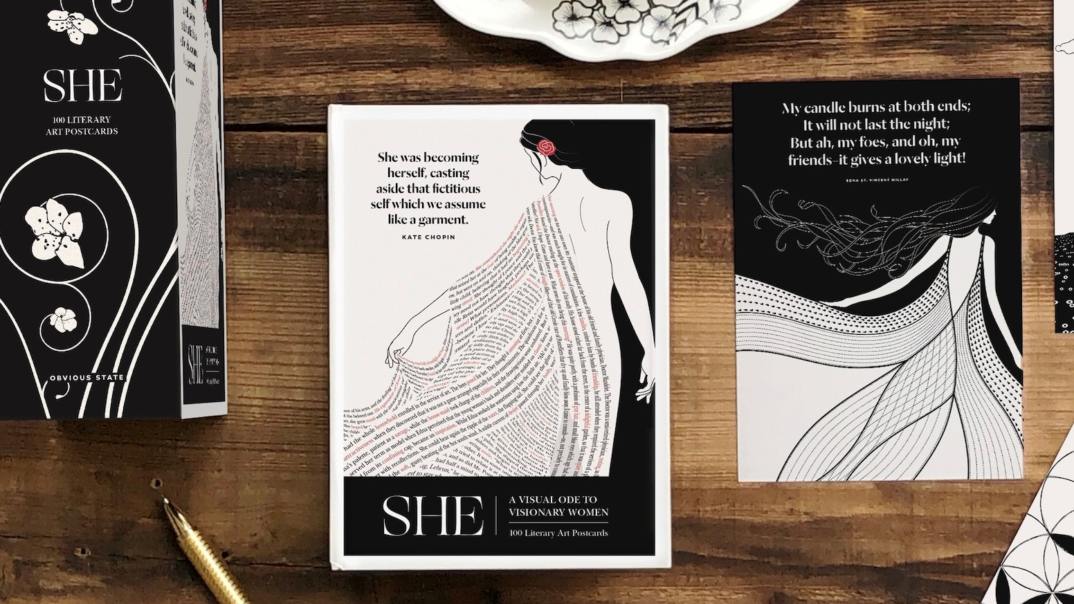100 artful ways to share the brilliant words of visionary women writers. A keepsake boxed set to collect, share or frame.