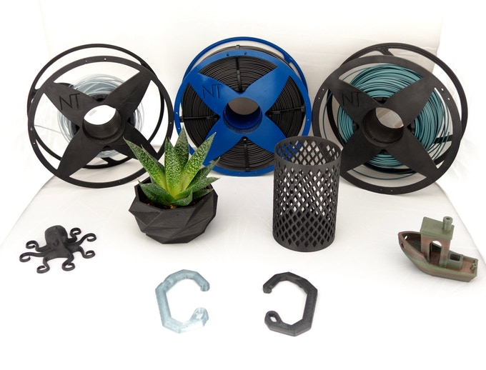 100 % Recycled filaments and 3D prints from NefilaTek