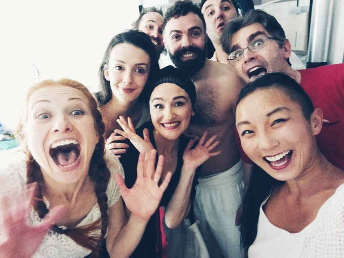"The cast of ""Doruntine"" winning 1st prize at Secondo Festival, Switzerland. Photo by Poppy Liu."