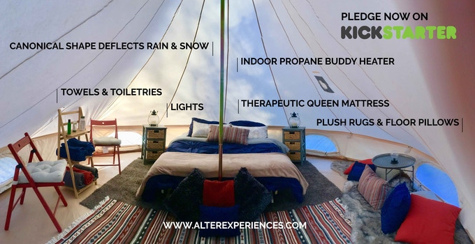 Stout bell tent interior