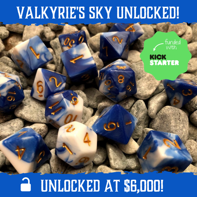 Valkyrie's Sky - Deep Blue and White with Gold Numbering