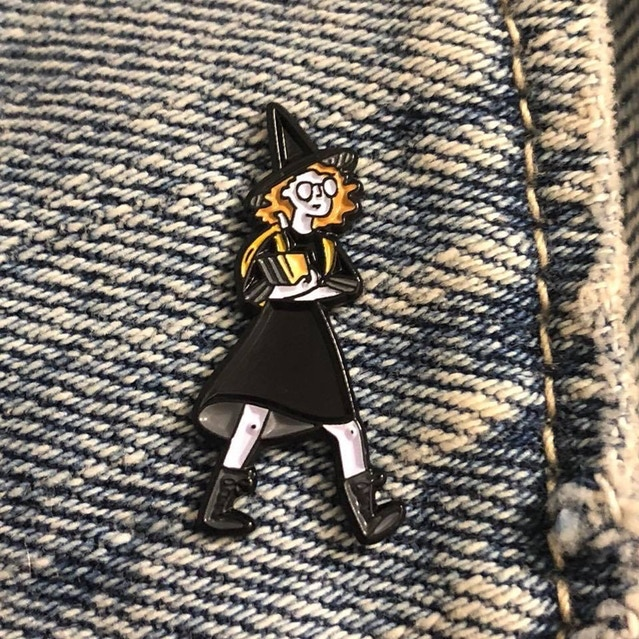 "My Sister - Nova Witch 1"" label pin"