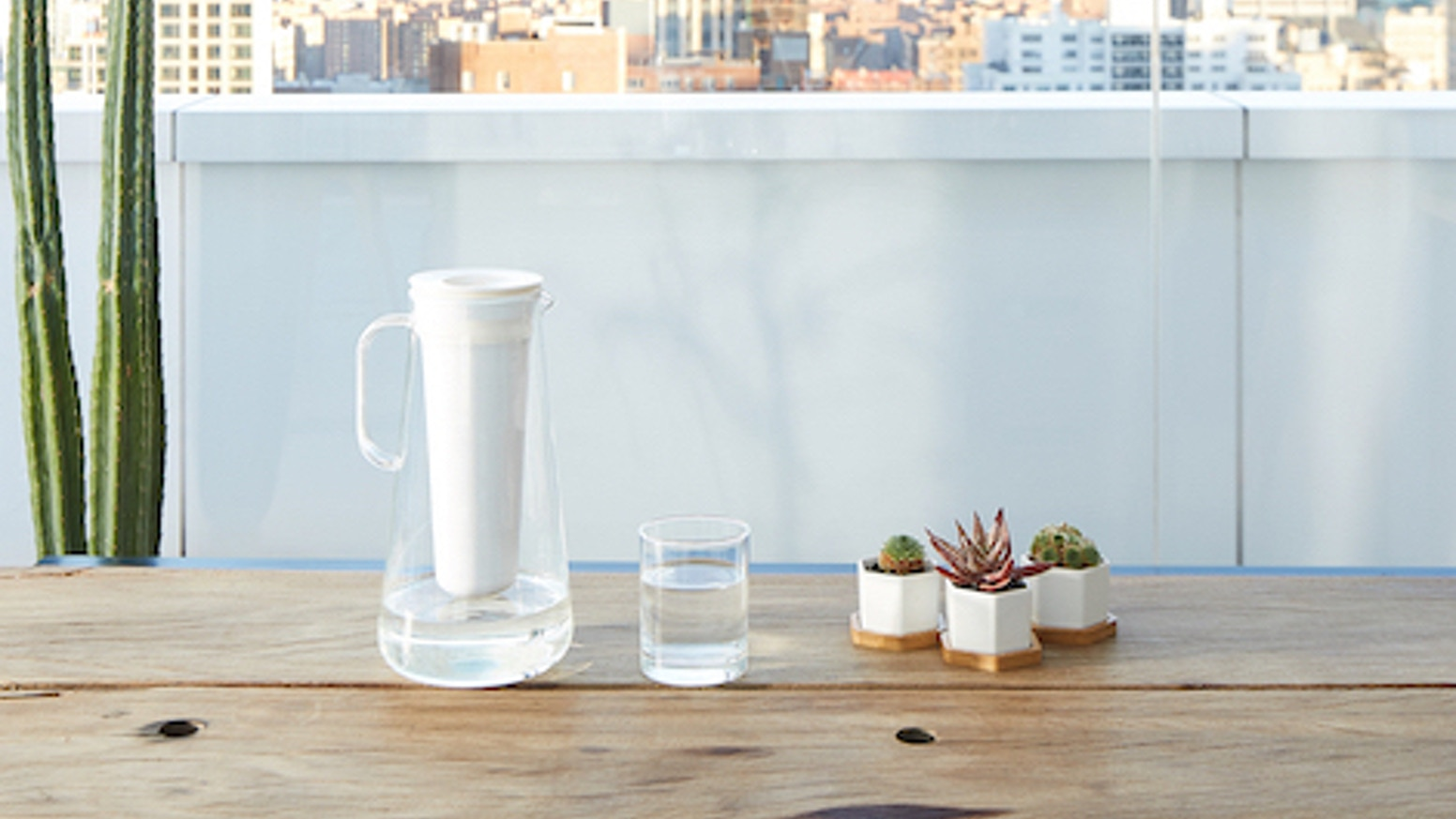 From the makers of LifeStraw, comes the LifeStraw Home: a sleek, glass water filter pitcher with powerful filtration technology.