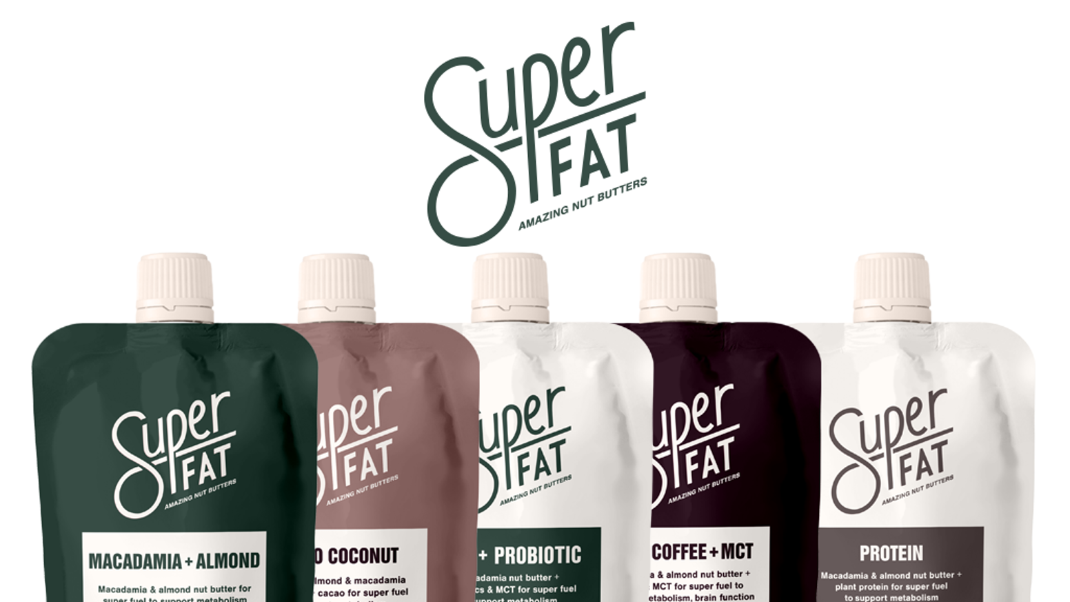 SuperFat - Amazing nut butters with functional ingredients. Keto & Vegan certified.