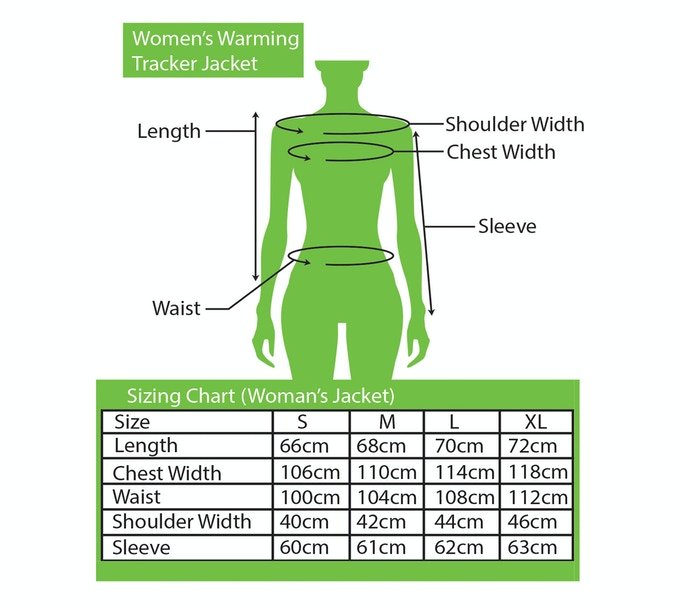Sizing Chart for Women's Jacket