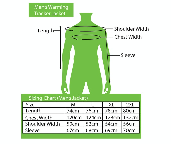 Sizing Chart for Men's Jacket