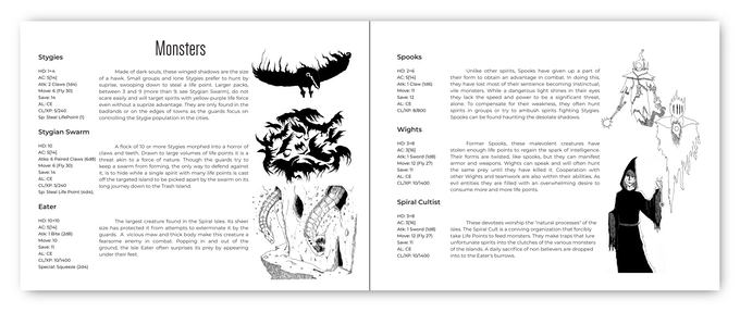 Sample Monster Pages