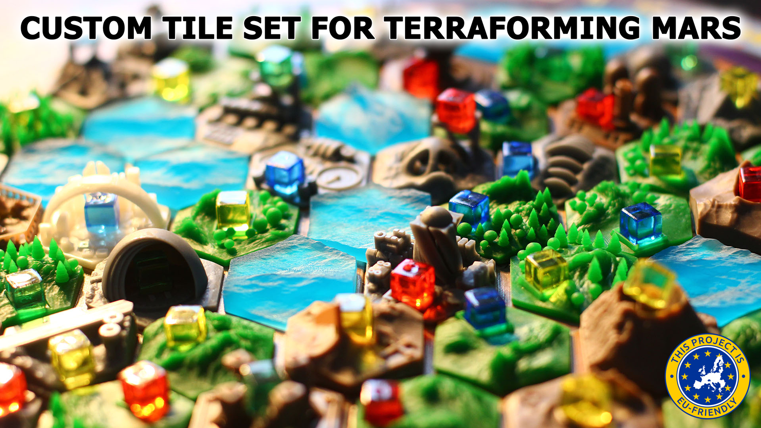 This is the first high resolution custom Tile Set for Terraforming Mars. Printed with DLP 3D printers and shiped all over the world.