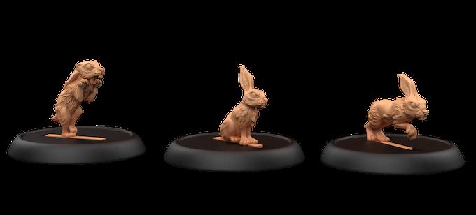 Murder Bunnies, Sculpted by Tom Lishman