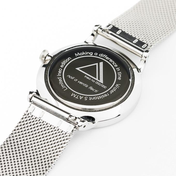 Ineo Conquest Vintage Silver, mesh bracelet