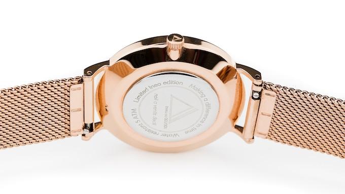 Ineo Conquest Prestige, Rosé Gold, mesh bracelet