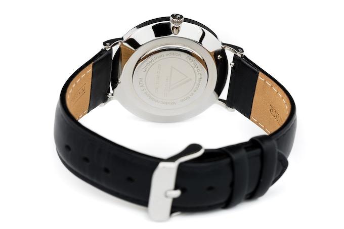 Ineo Conquest Prestige Silver, black leather strap