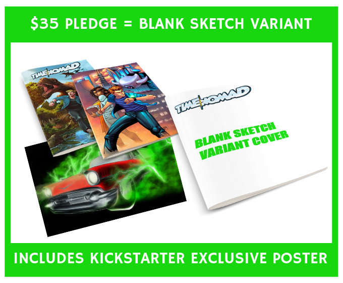 Have your favorite artist draw a cover for your favorite new series!  Blank sketch covers are available at our $35 Tier!