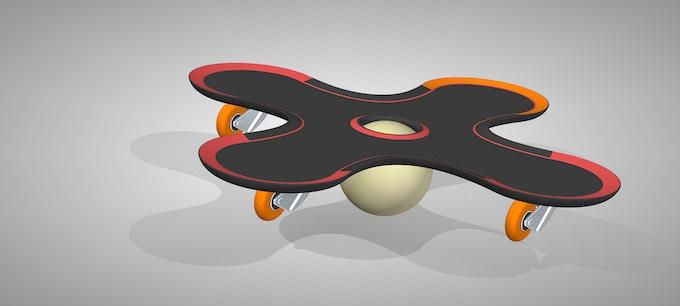 Crossboarder: balance on ball