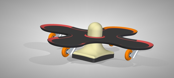 Crossboarder: balance with cone