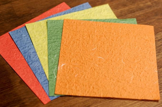 Simple: red, blue, yellow, green, orange