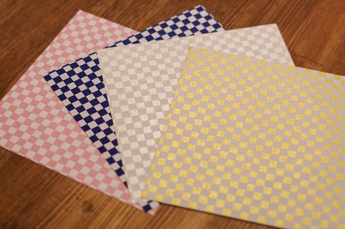 Checkers: pink, indigo, silver, gold