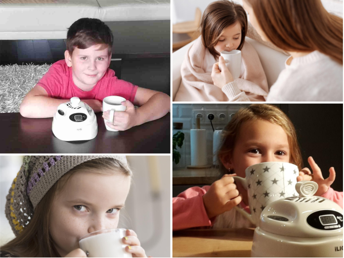 Children often have different thermal sensations than adults. When using the iLIQ, you can easily adjust the optimal drinking temperature for your children.