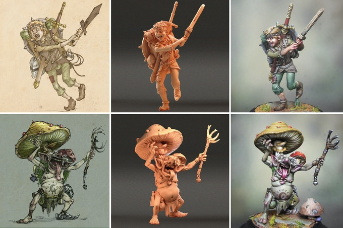Eric the Squire and Shabaroon: From Art, to Sculpt, to Painted Miniature