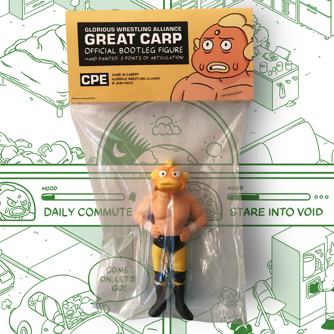 The official bootleg GREAT CARP action figure, in all its glory