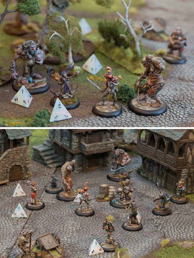 A selection of Moonstone miniatures that resulted from our last Kickstarter campaign.