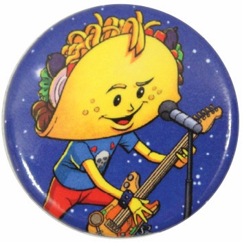 Every pledge of $50 or more comes with this rocking PUNK TACO button.